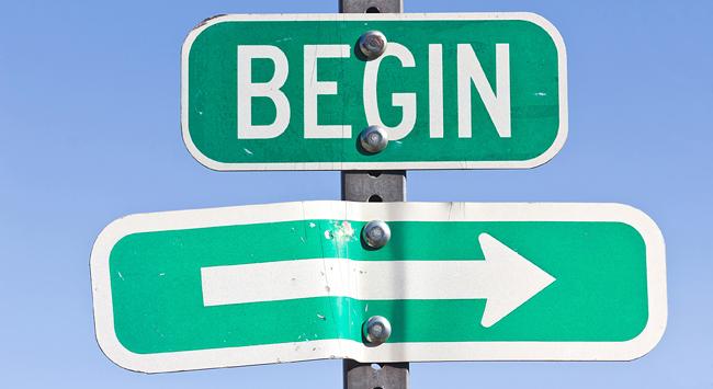 begin sign